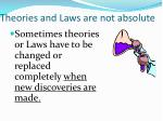 theories and laws are not absolute