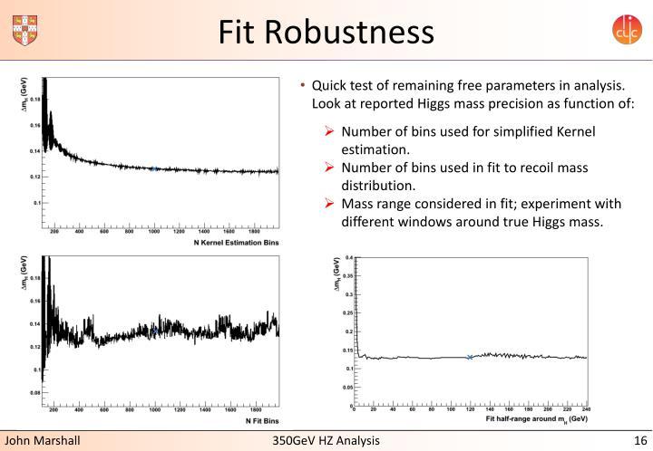 Fit Robustness