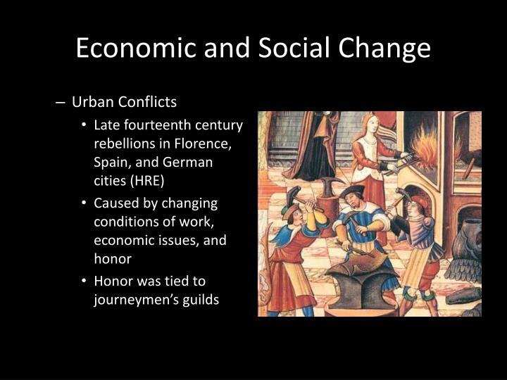 social and economic changes in the The industrial and economic developments of the industrial revolution brought significant social changes industrialization resulted in an increase in population and the phenomenon of urbanization, as a growing number of people moved to urban centres in search of employment.