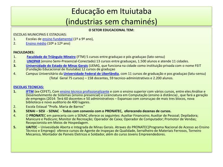 Educação em Ituiutaba