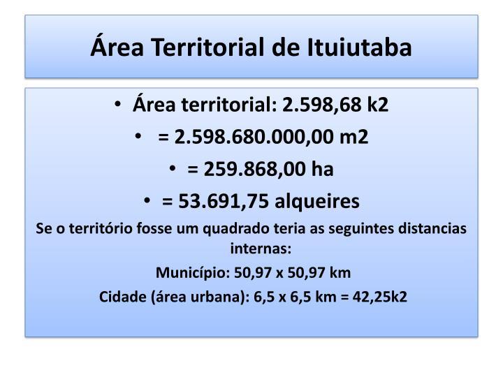 Área Territorial de Ituiutaba