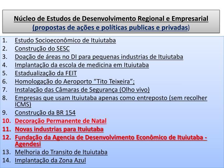 Núcleo de Estudos de Desenvolvimento Regional e Empresarial