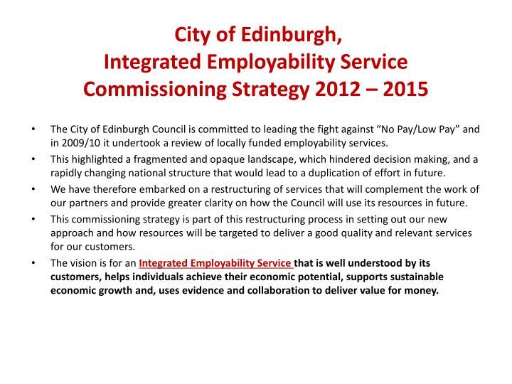 City of Edinburgh,