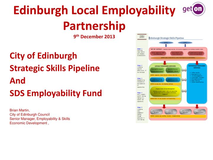 Edinburgh local employability partnership 9 th december 2013