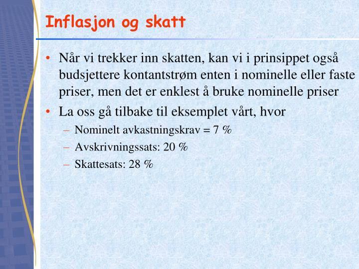 Inflasjon og skatt