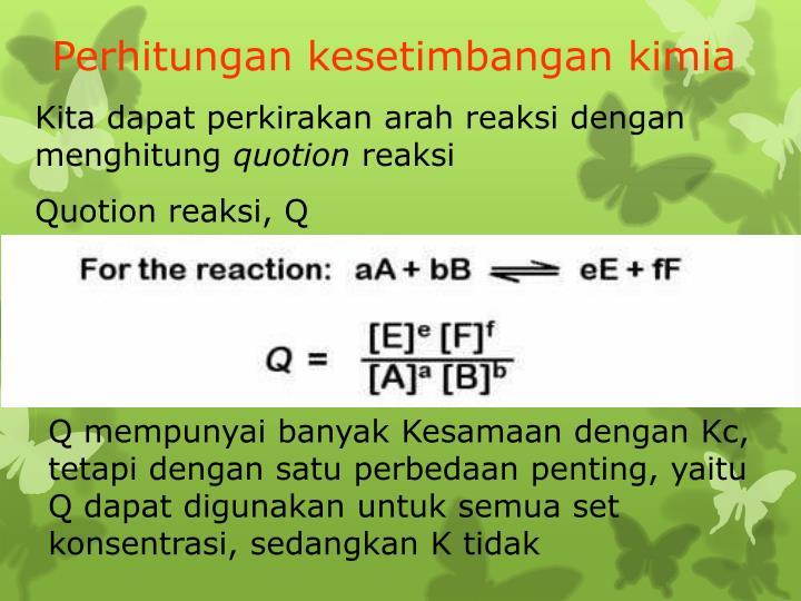 Perhitungan kesetimbangan kimia