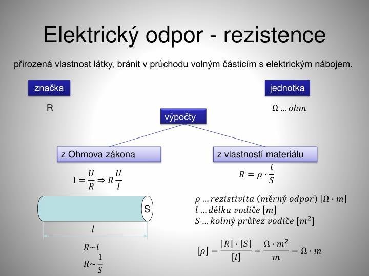 Elektrický odpor - rezistence