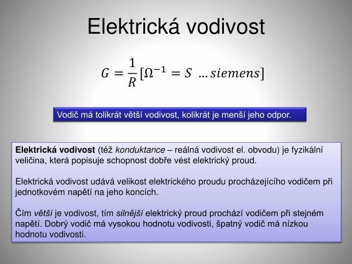 Elektrická vodivost