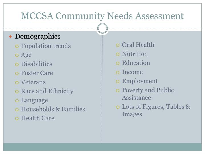 MCCSA Community Needs Assessment