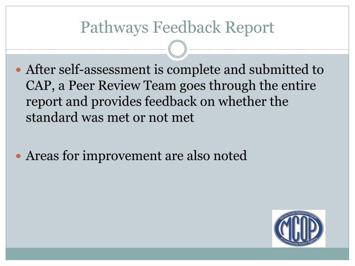 Pathways Feedback Report