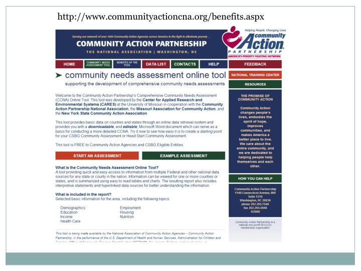 http://www.communityactioncna.org/benefits.aspx