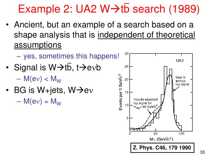 Example 2: UA2 W