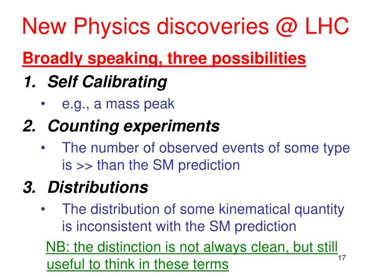 New Physics discoveries @ LHC