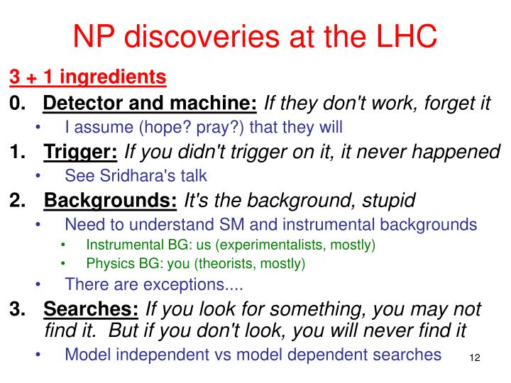 NP discoveries at the LHC