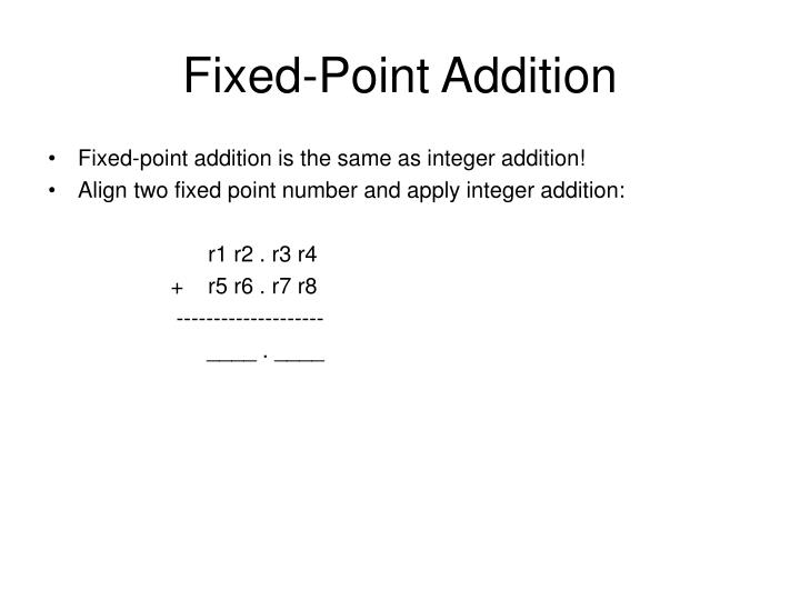 Fixed-Point Addition