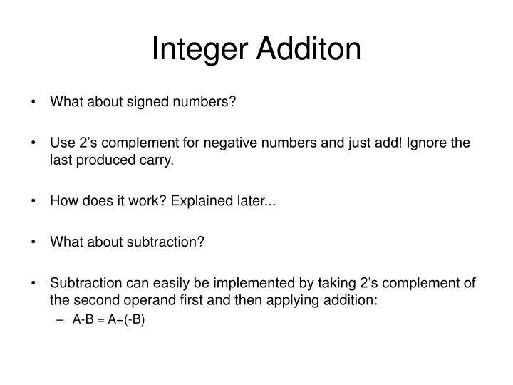 Integer Additon
