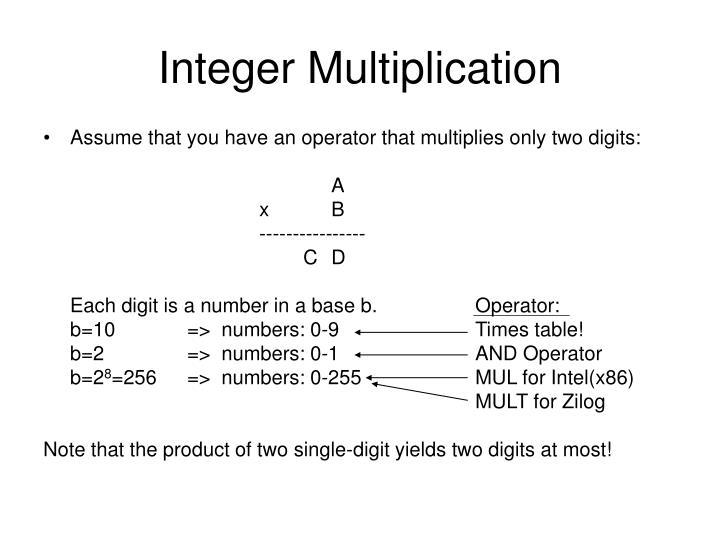 Integer Multiplication