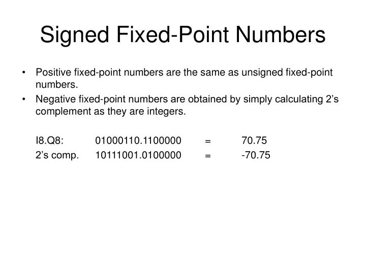 Signed Fixed-Point Numbers