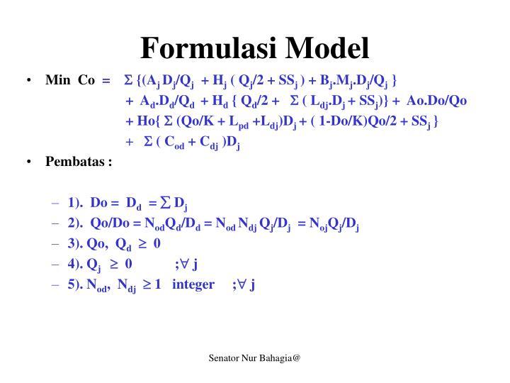 Formulasi Model