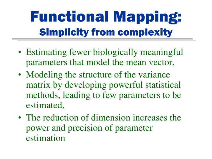 Functional Mapping: