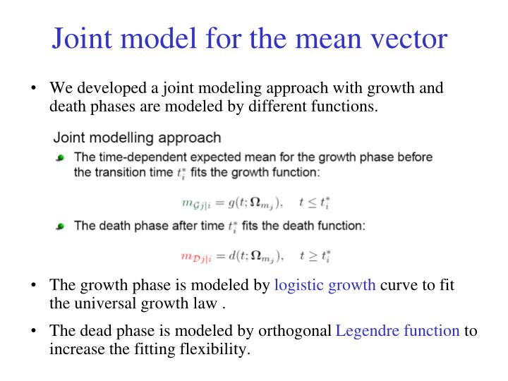 Joint model for the mean vector