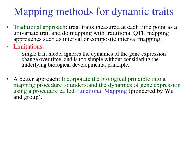 Mapping methods for dynamic traits