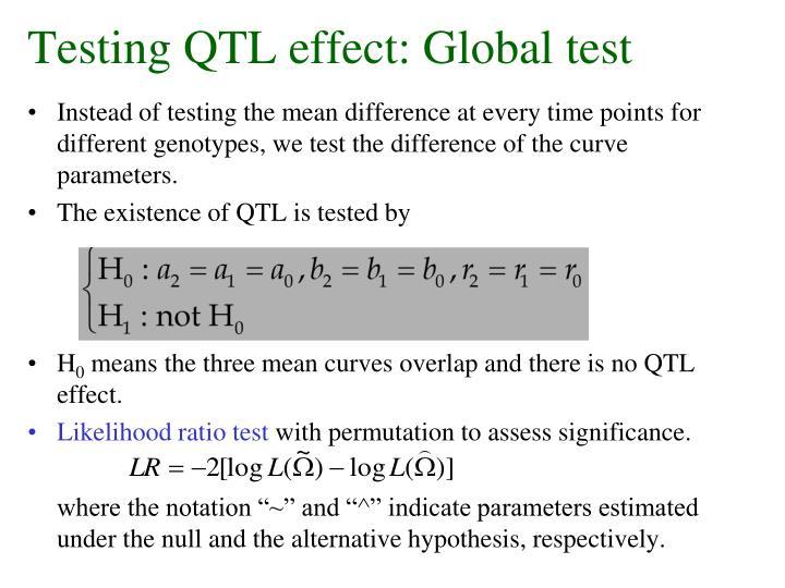 Testing QTL effect: Global test