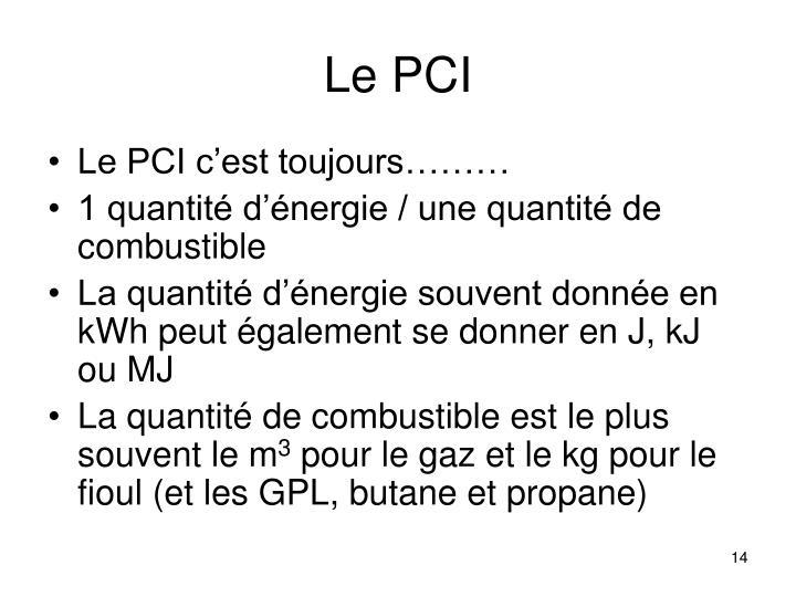 Le PCI