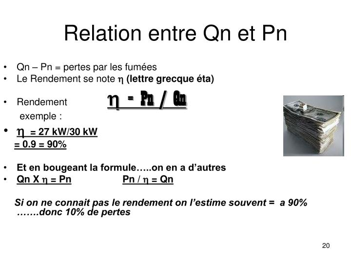 Relation entre Qn et Pn