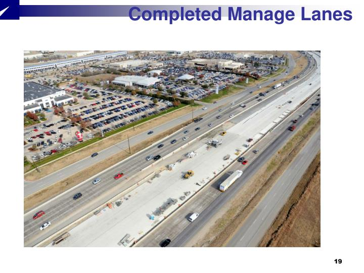 Completed Manage Lanes