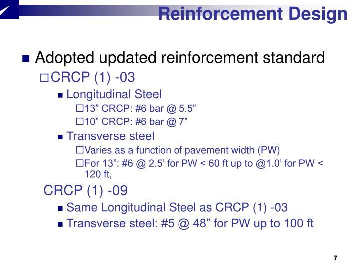 Reinforcement Design