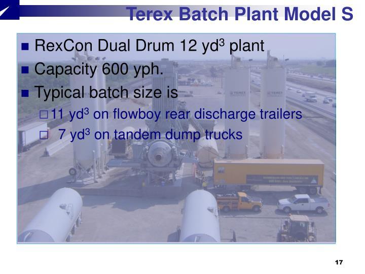 Terex Batch Plant Model S