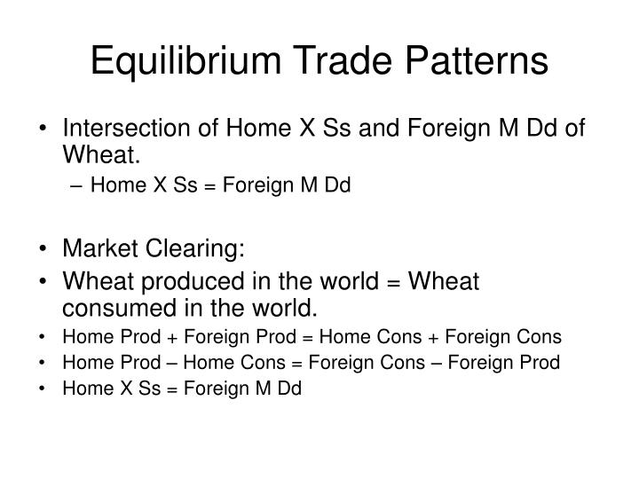 Equilibrium Trade Patterns