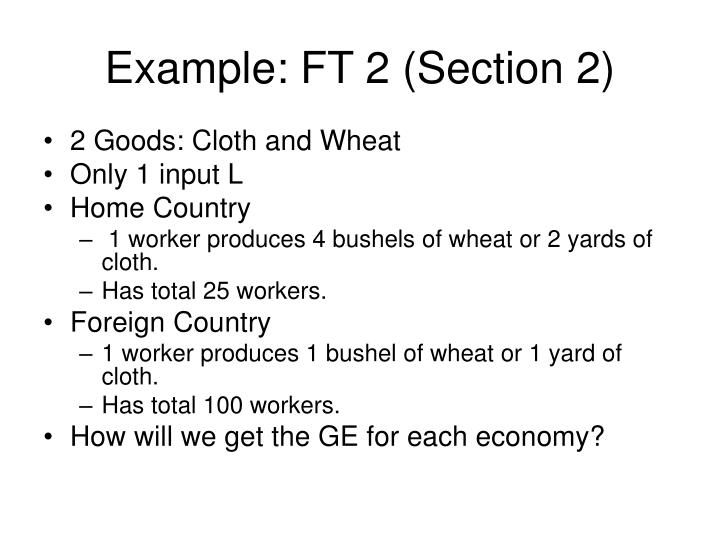 Example: FT 2 (Section 2)