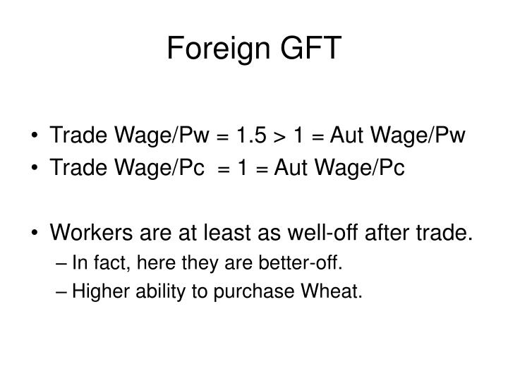 Foreign GFT