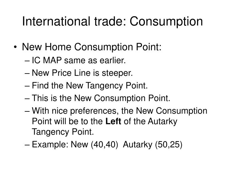 International trade: Consumption