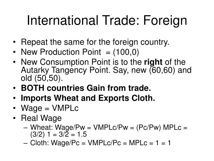 International Trade: Foreign