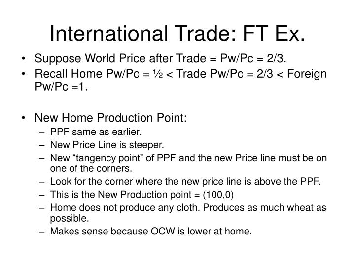 International Trade: FT Ex.
