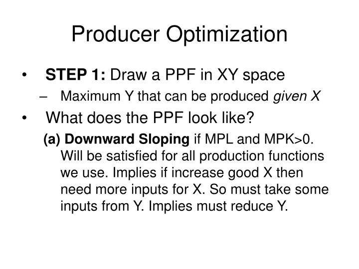 Producer optimization