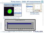 pump lasers gaia hp measurements