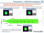 pump lasers gaia hp propagation