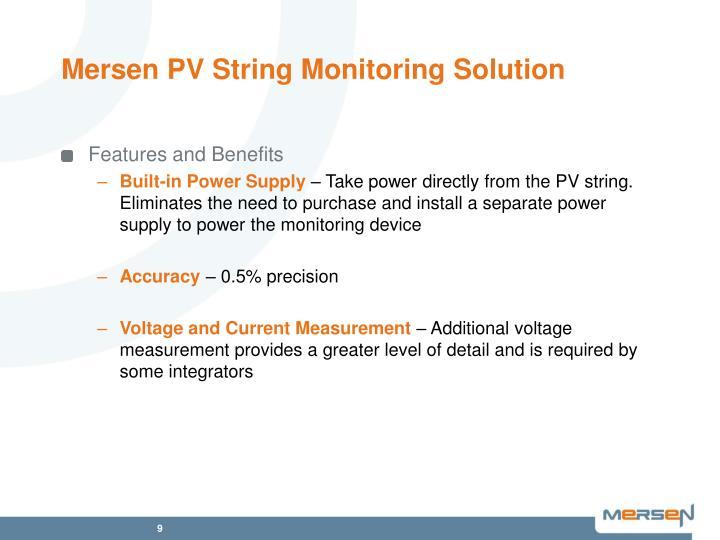 Mersen PV String Monitoring Solution
