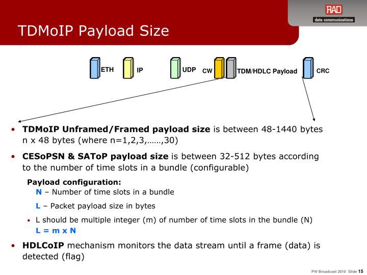 TDM/HDLC Payload