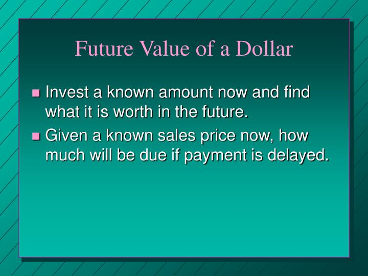 Future Value of a Dollar