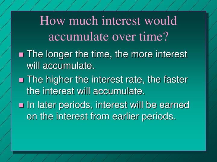 How much interest would accumulate over time?