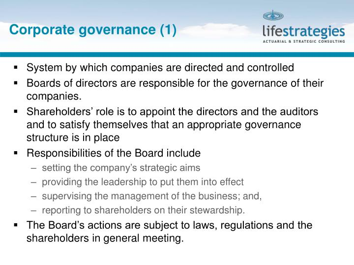 Corporate governance (1)