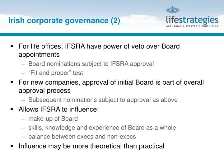 Irish corporate governance (2)