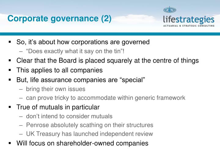Corporate governance (2)