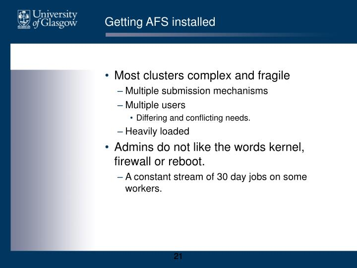 Getting AFS installed