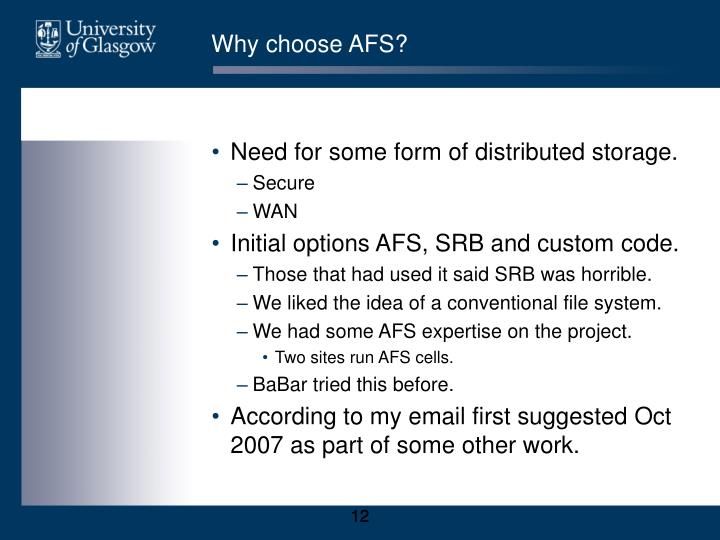 Why choose AFS?